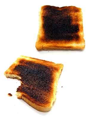 People once used a powder created from burnt bread to brush their teeth!