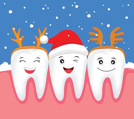 happy holiday teeth